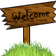 Image of a welcome sign.